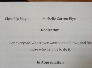 Dedication page of Close Up Magic